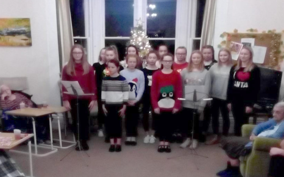 Christmas carolling at Loose Valley Care Home