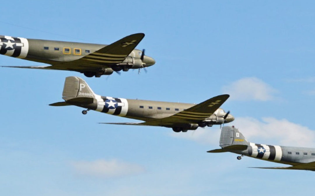 Dakota flypast at Loose Valley Care Home