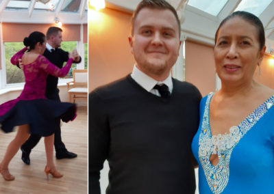 Voluteers Jackie and James performing a ballroom show at Loose Valley Care Home 2