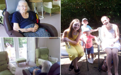 Ethel at Loose Valley Care Home receives a visit