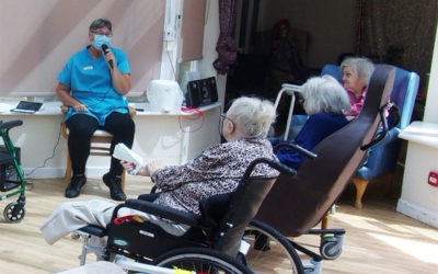 Name That Tune and seated exercises at Loose Valley Care Home