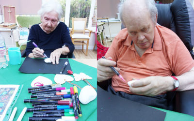 Pebble painting at Loose Valley Care Home