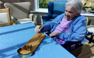 Skittles and stories at Loose Valley Care Home