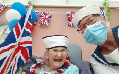Miss Holiday Swing sings for Loose Valley Care Home residents