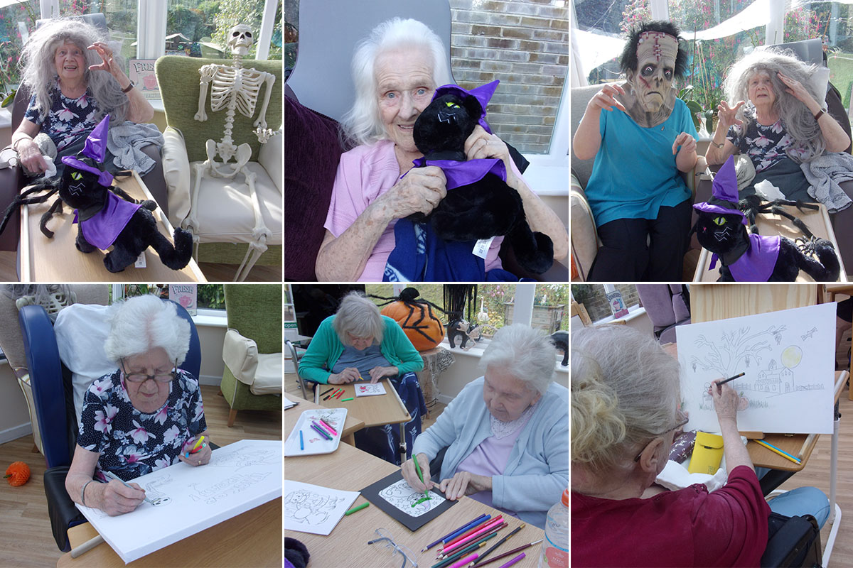 Loose Valley Care Home residents enjoy some Halloween fun