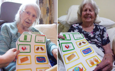Residents have fun with Toonology game at Loose Valley Care Home