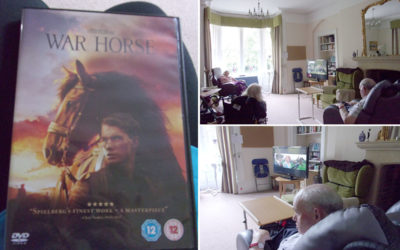 Watching War Horse at Loose Valley Care Home