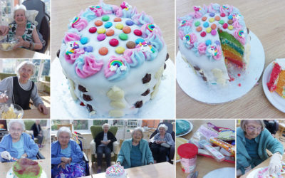 Loose Valley Care Home creates rainbow Showstopper Cake
