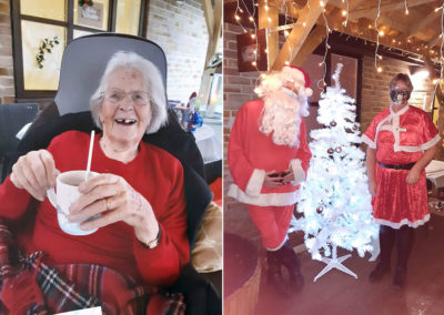 Christmas hot chocolate and Santa fun at Loose Valley Care Home
