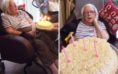 Birthday celebrations for Louisa at Loose Valley Care Home