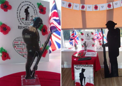 Remembrance display at Loose Valley Care Home