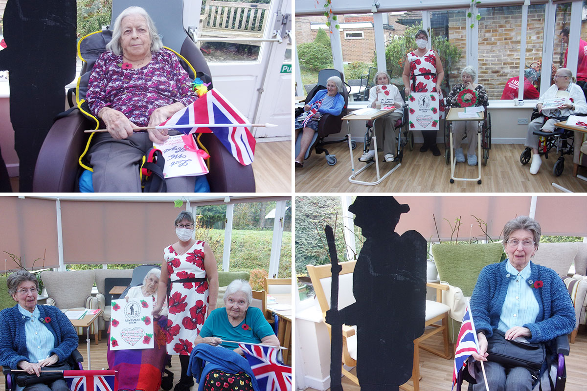 Loose Valley Care Home residents and staff remember the fallen soldiers of war