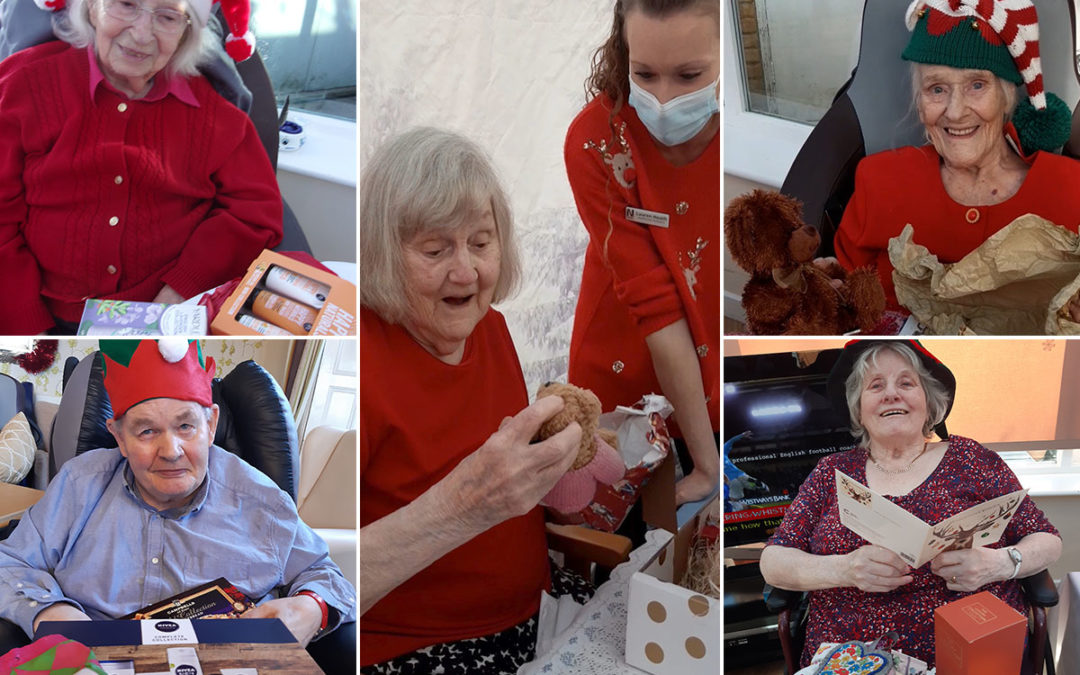 Tree presents at Loose Valley Care Home