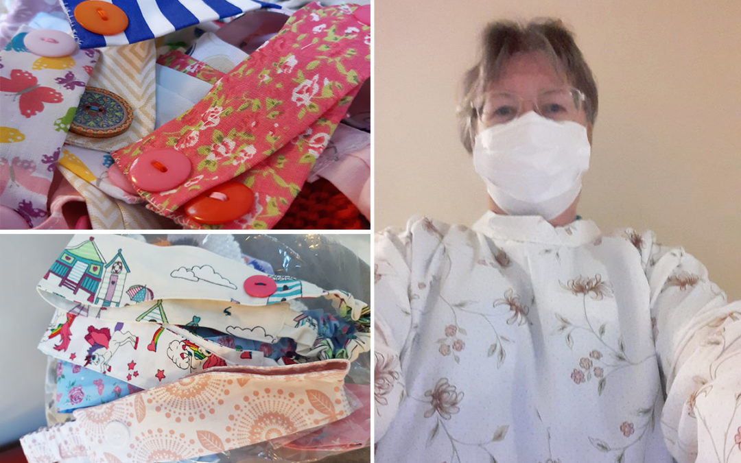 Crafters for Carers PPE donations to Loose Valley Care Home