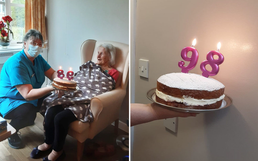 Birthday wishes for Gwen at Loose Valley Care Home