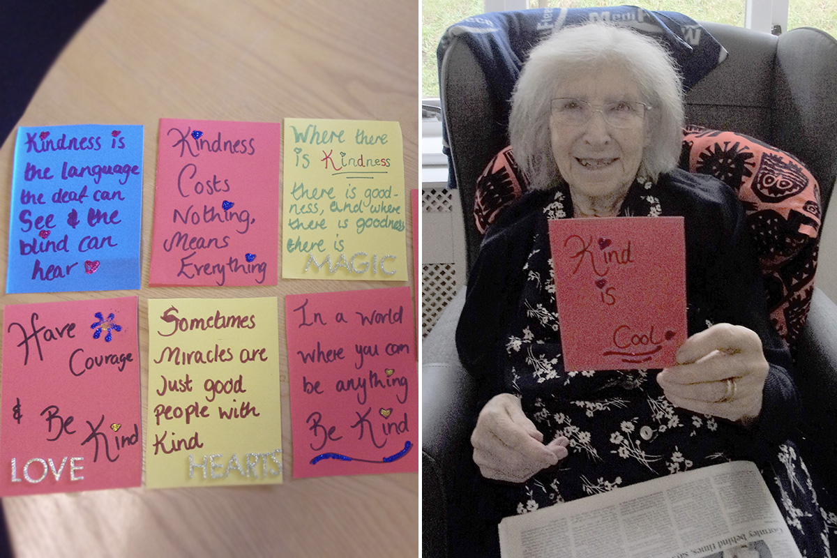 Celebrating Random Acts of Kindness Day at Loose Valley Care Home