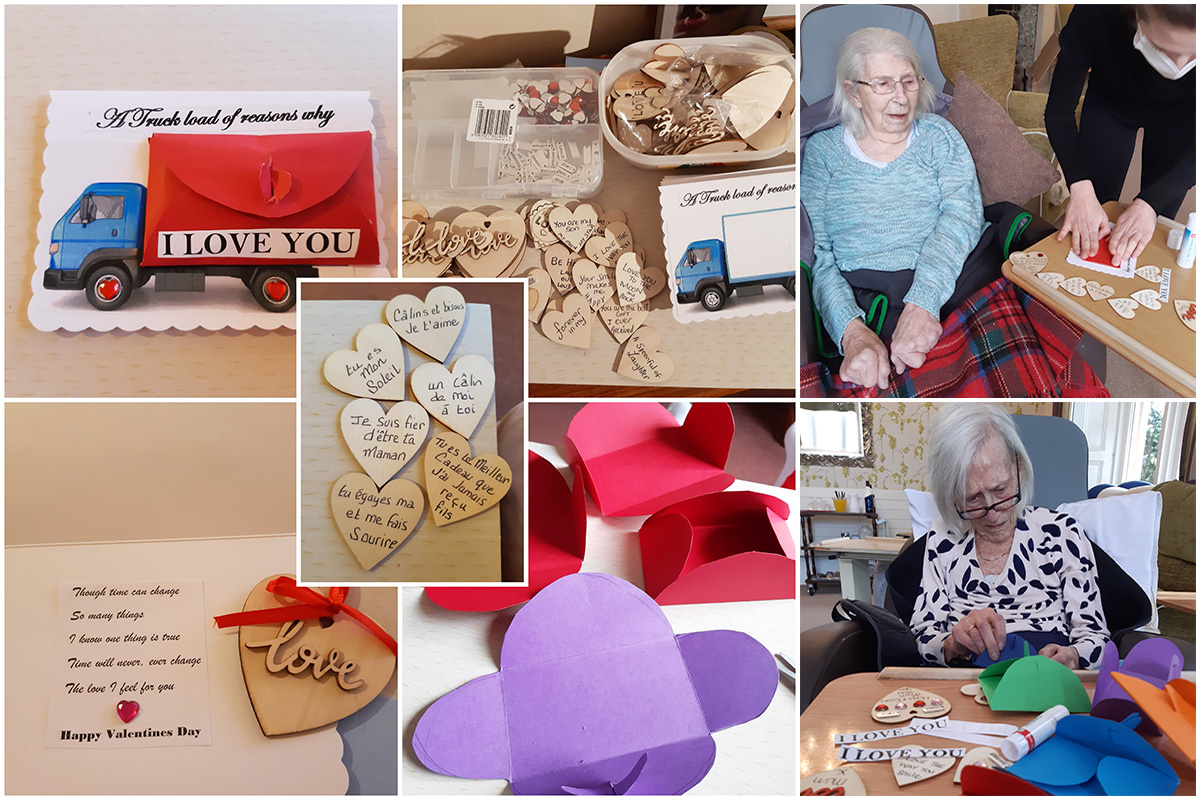 Valentine messages of love from Loose Valley Care Home