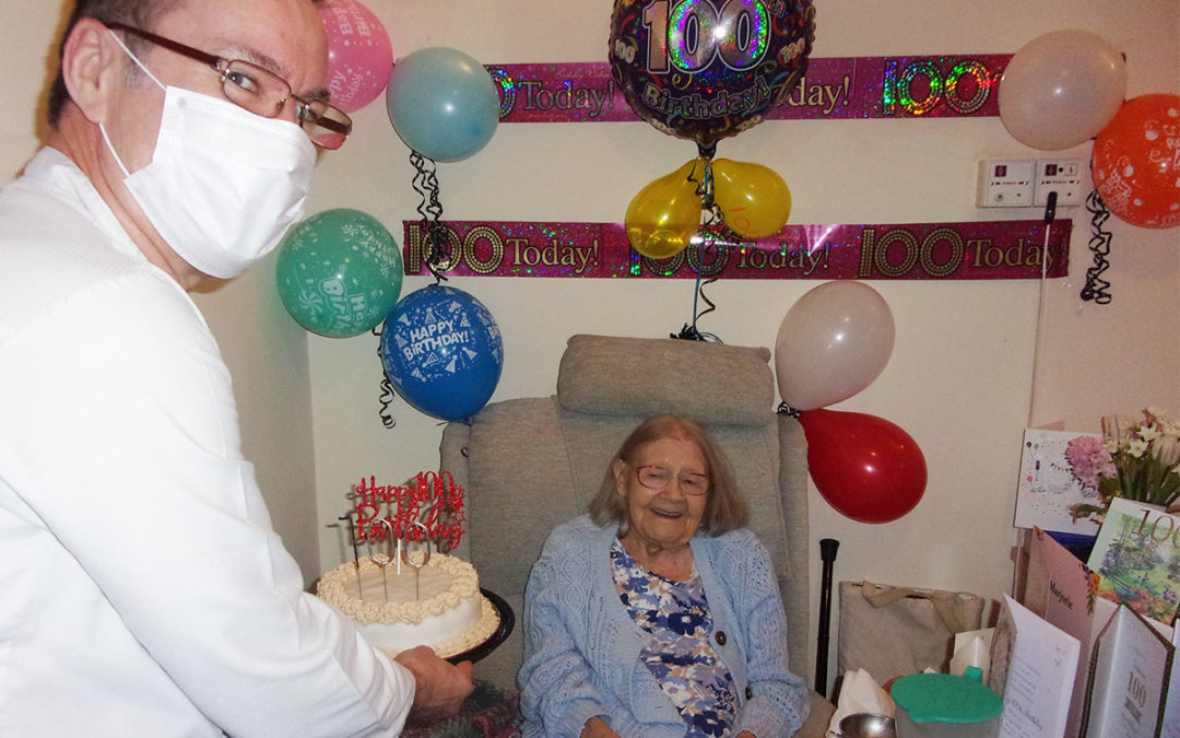 Marjorie turns 100 at Loose Valley Care Home
