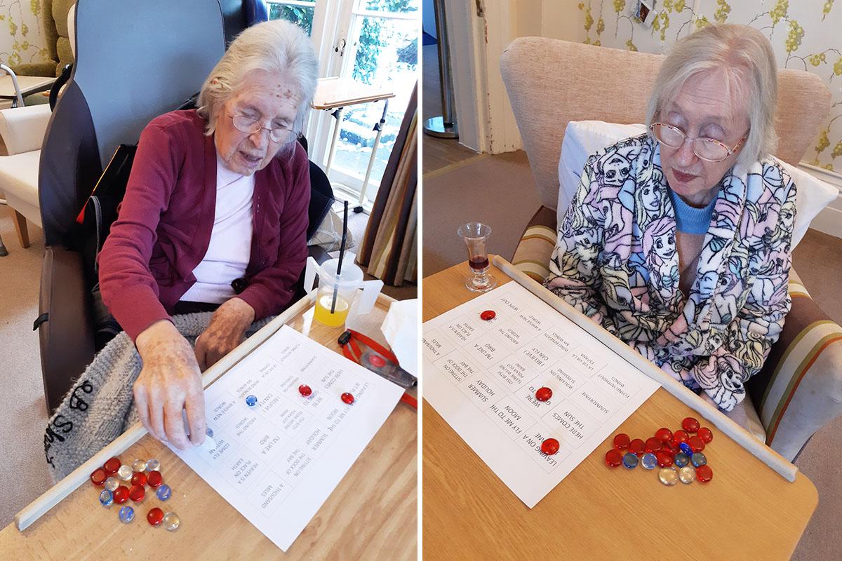 Loose Valley Care Home residents enjoy musical bingo