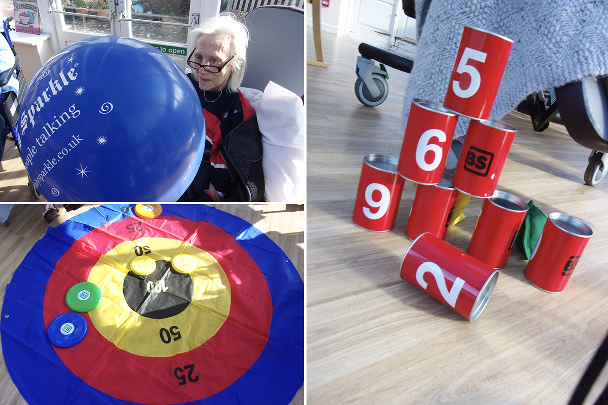 Big balloon games at Loose Valley Care Home
