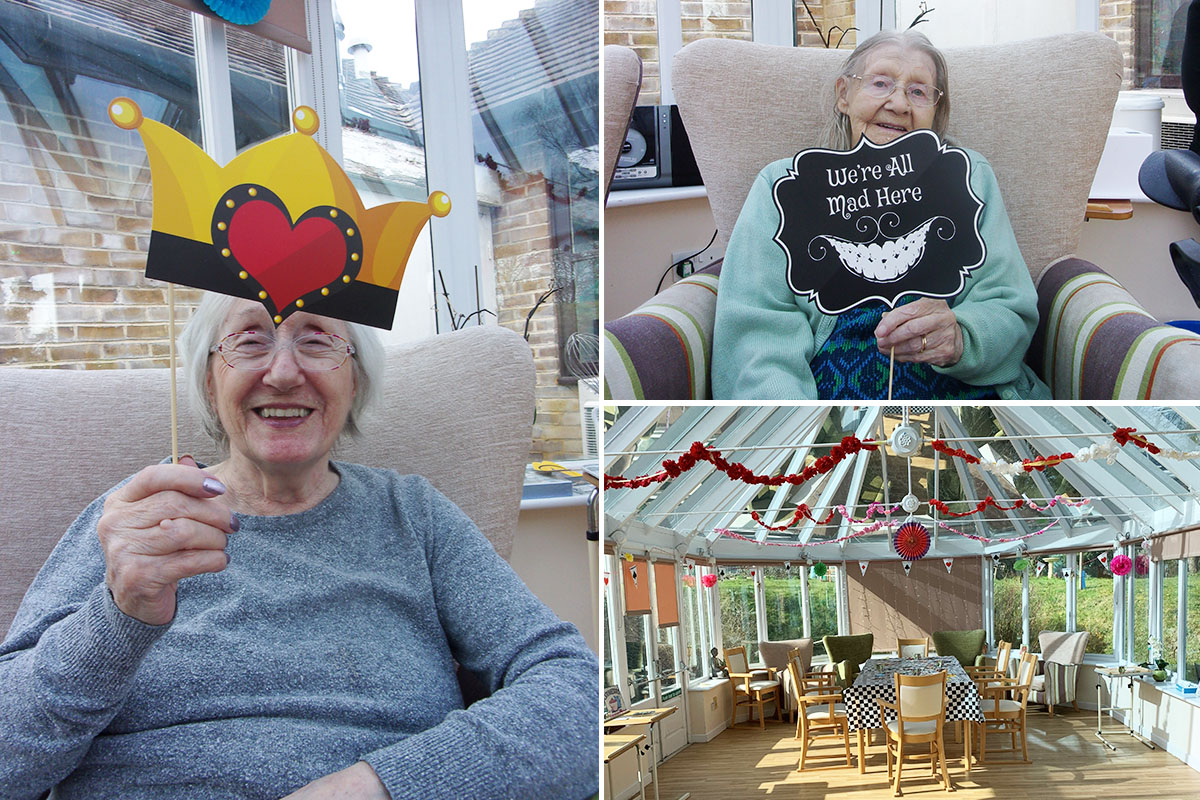 Mothers Day Alice in Wonderland Tea Party at Loose Valley Care Home