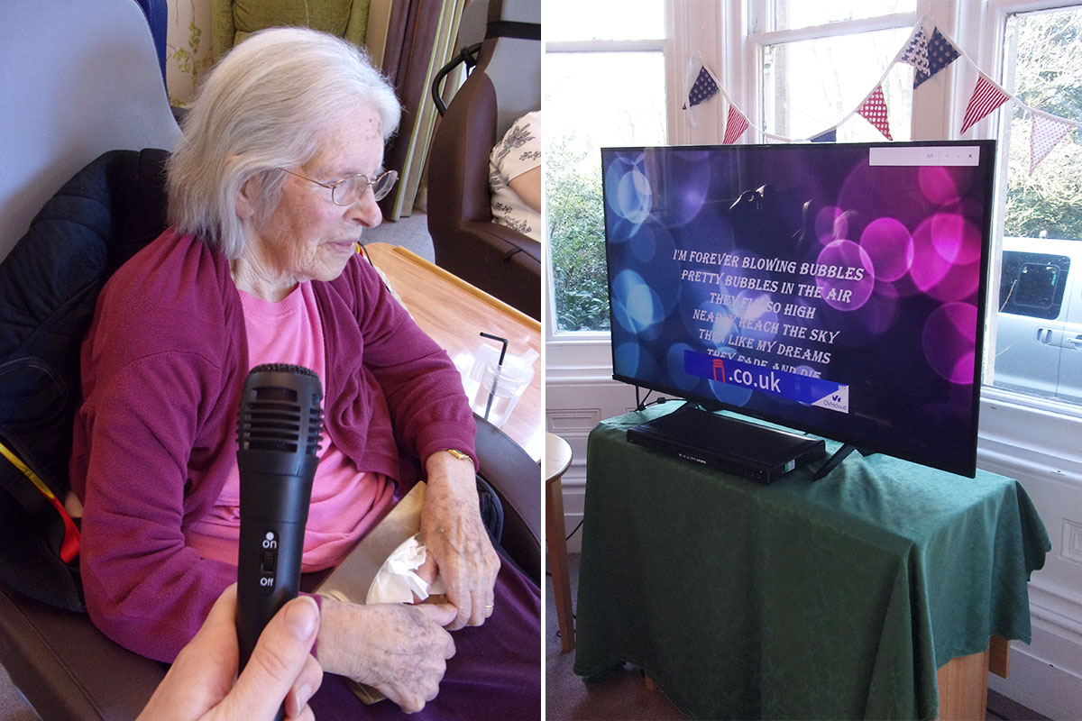 Residents enjoy Sing-a-long Sunday at Loose Valley Care Home