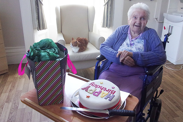 Happy birthday to Phylis at Loose Valley Care Home