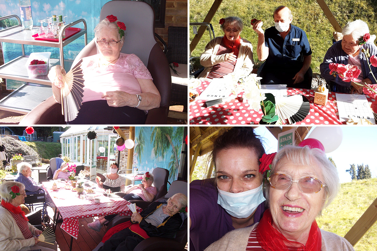 Loose Valley Care Home residents enjoy an evening in Spain