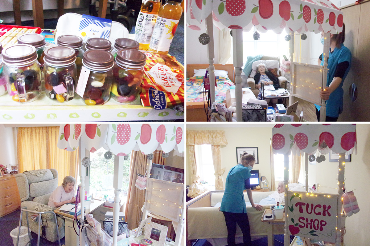 New tuck shop trolley at Loose Valley Care Home