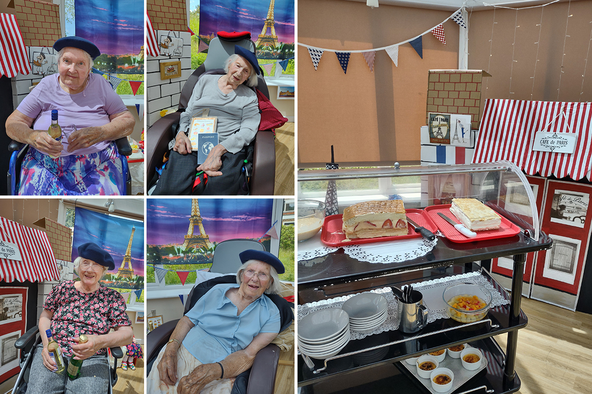 Loose Valley Care Home residents enjoy a virtual stay in Paris