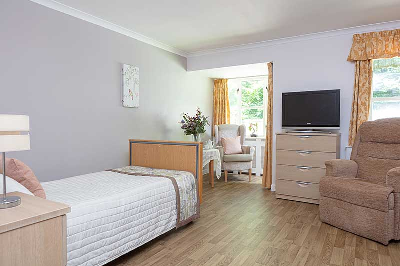 Loose Valley Care Home Bedroom