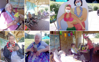 Loose Valley Care Home residents enjoy a Caribbean Day