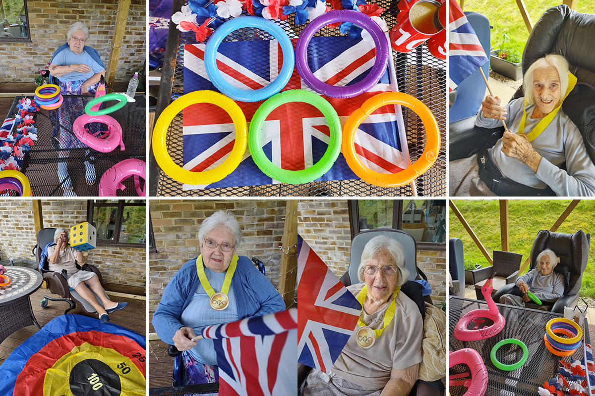 Garden Olympics at Loose Valley Care Home