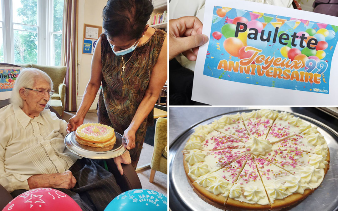 Joyeux Anniversaire to Paulette at Loose Valley Care Home