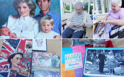 Loose Valley Care Home residents enjoy a royal themed Red Box Library