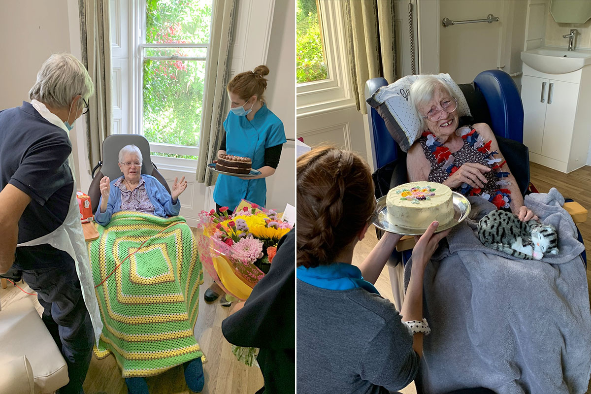 Happy birthday to Jean and Maggie at Loose Valley Care Home