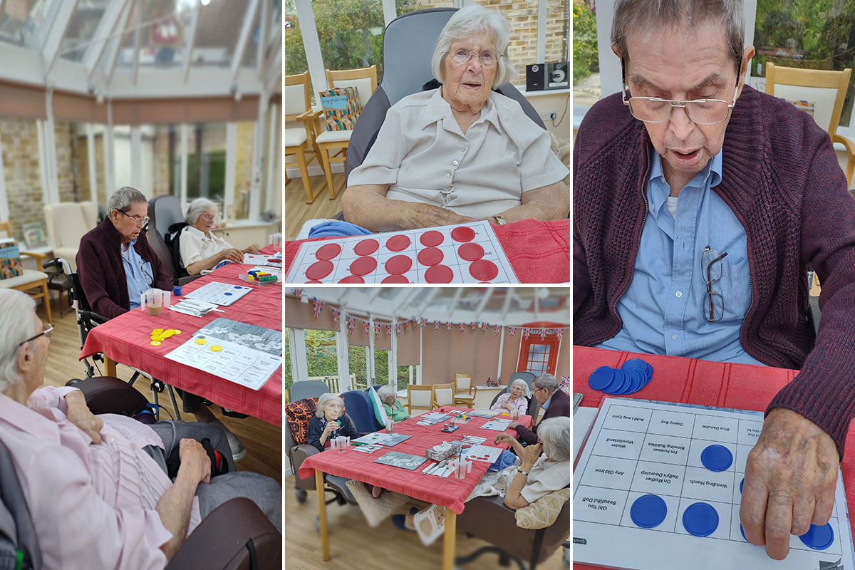 Musical bingo at Loose Valley Care Home