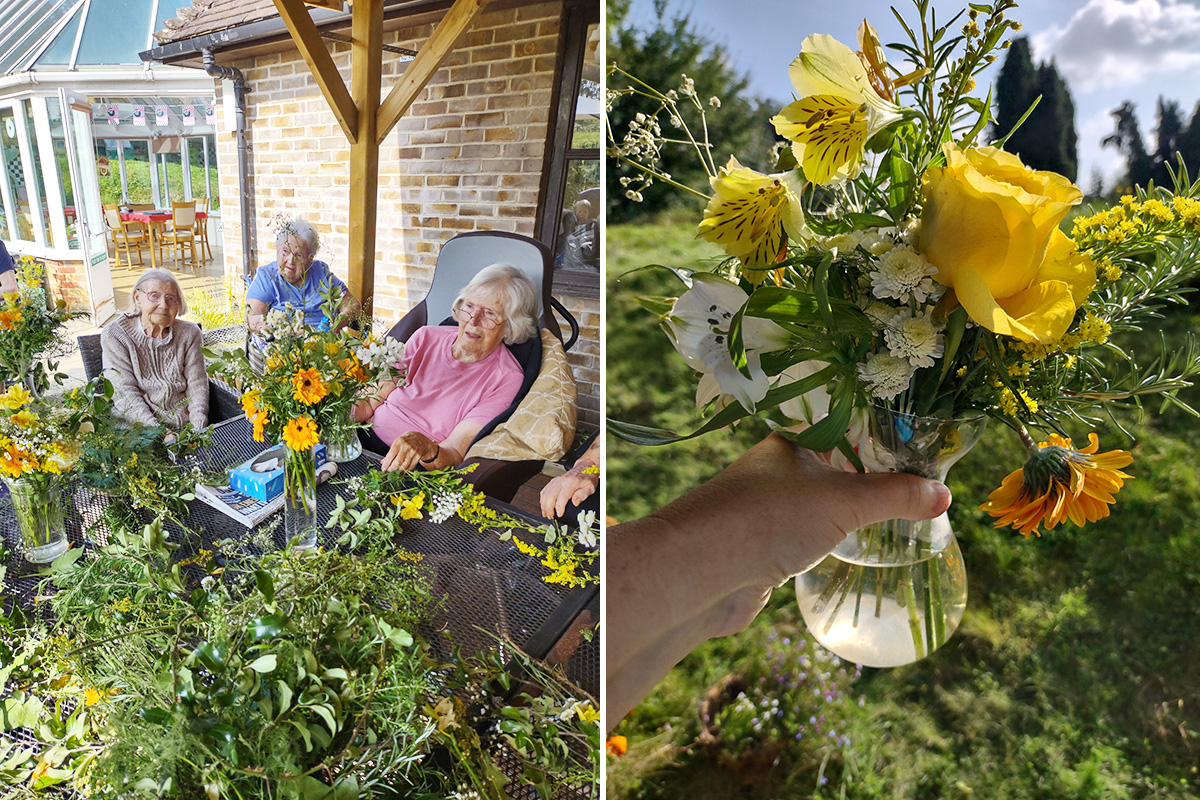 Local bride donates her wedding flowers to Loose Valley Care Home residents