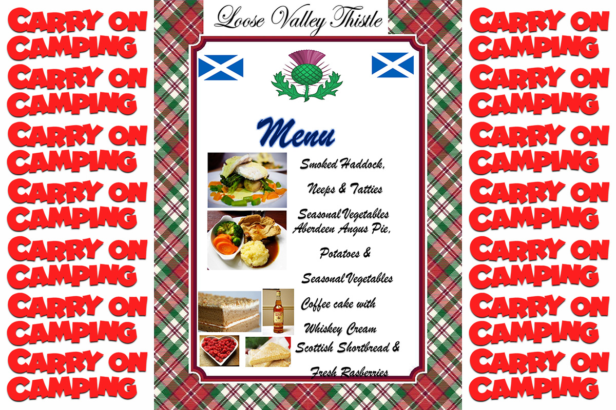 Carry on Camping in Scotland at Loose Valley Care Home