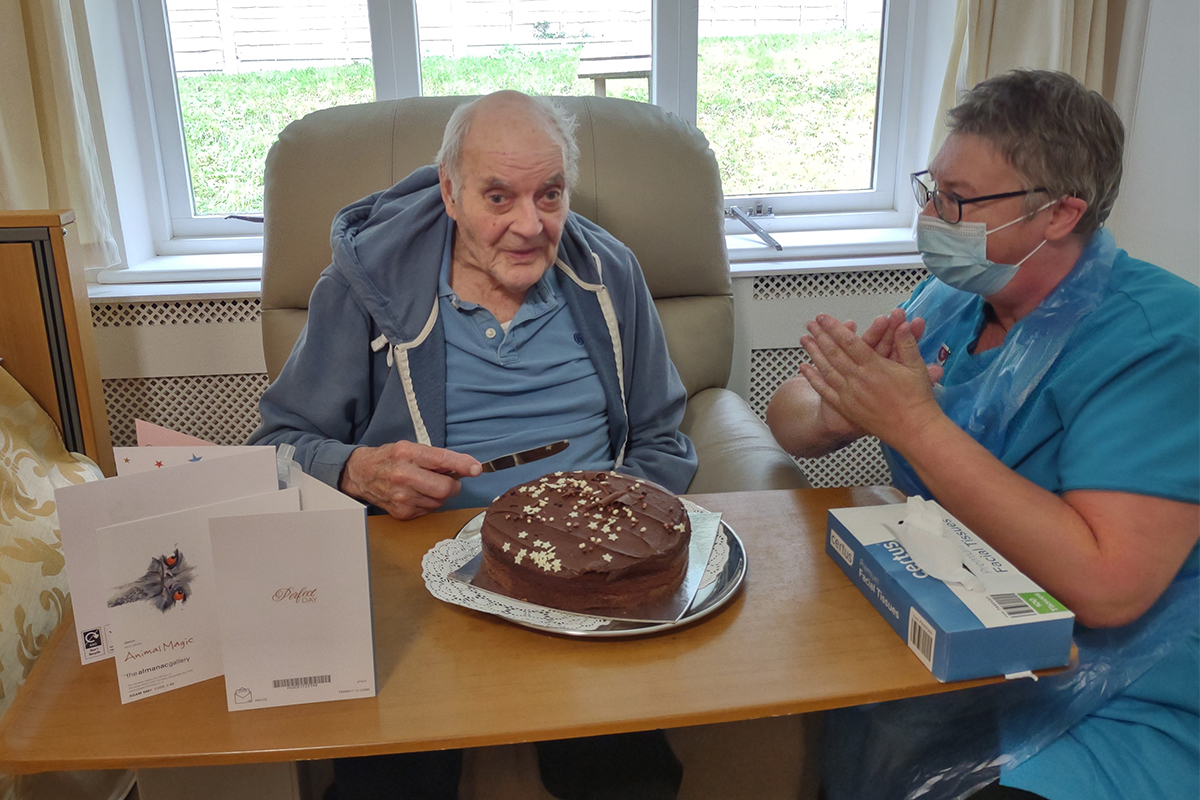 Birthday wishes for Peter at Loose Valley Care Home