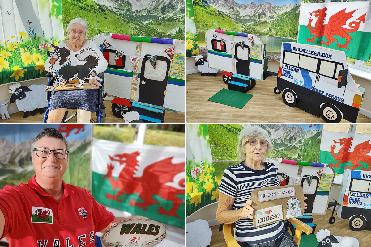 Loose Valley Care Home residents go camping in Wales